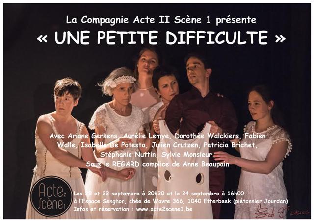 Reprise de notre spectacle «UNE PETITE DIFFICULTE» (extraits de Molière)